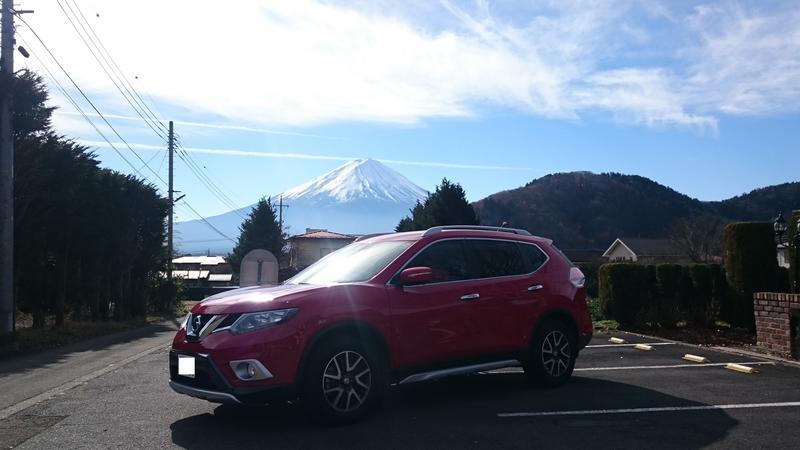 富士山とエクストレイル